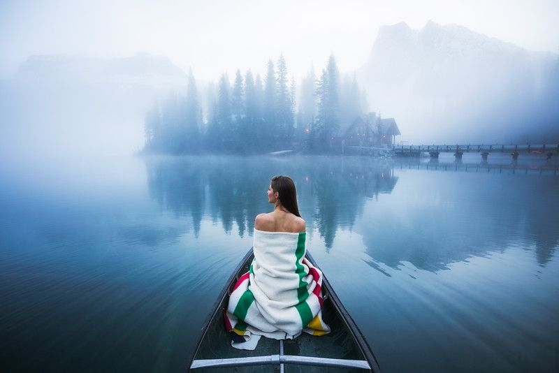 Andrea blanket and canoe shot on Emerald Lake in BC by Michael Matti-L.jpg